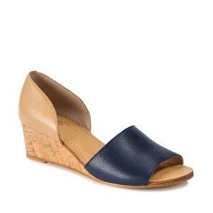 Latigo Savi Two-Tone D'Orsay Wedge Sandals
